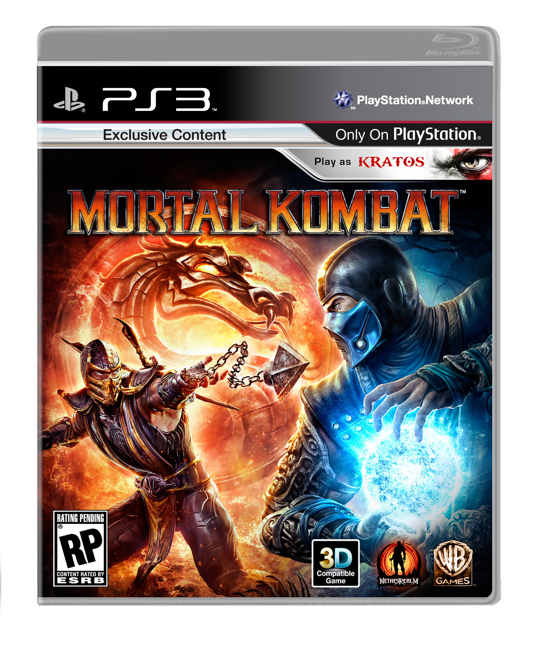 Mortal Kombat 9 Playstation Cover Box