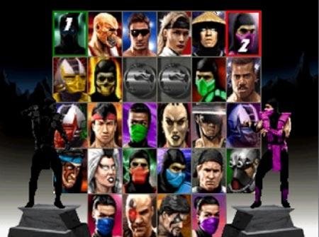 Mortal Kombat Trilogy Character Select Screen