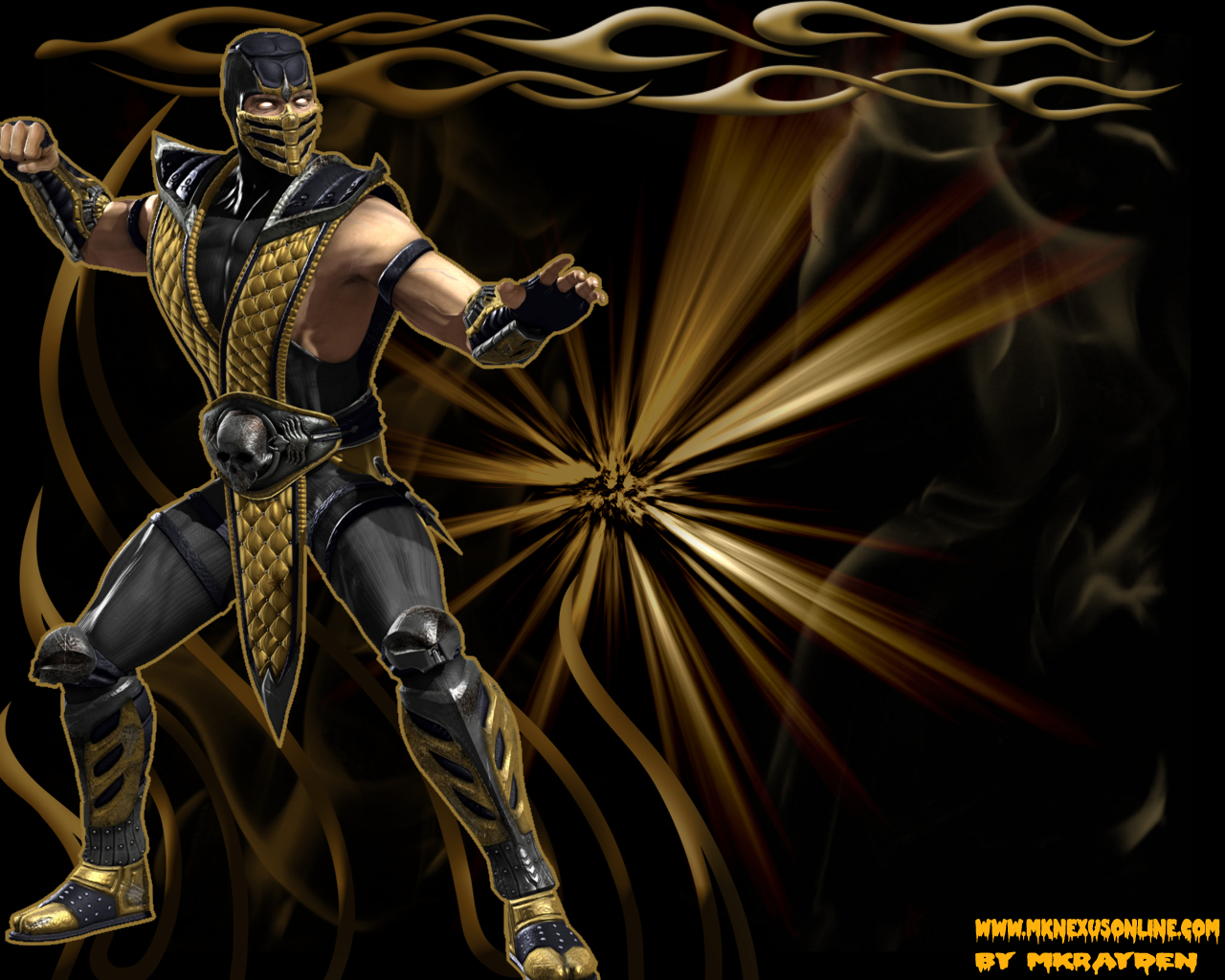 Mortal Kombat VS. DCU Scorpion Wallpaper