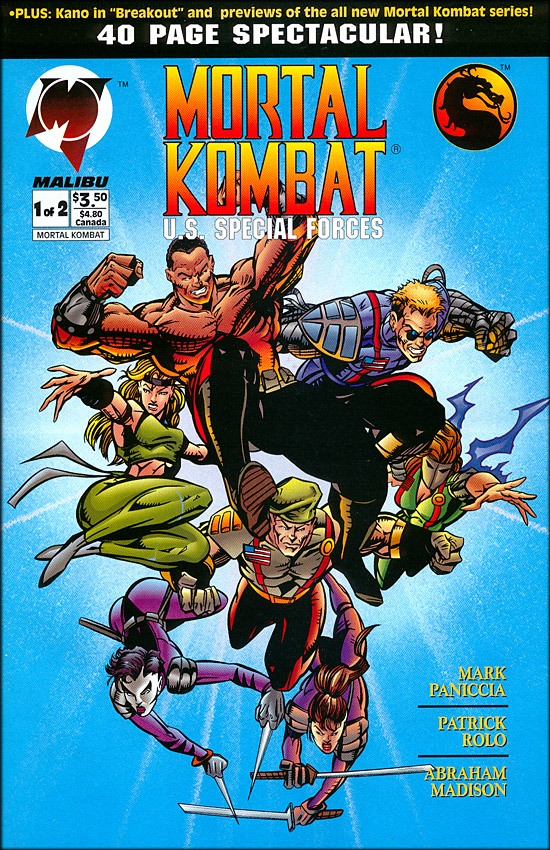 mortal kombat special force comic cover
