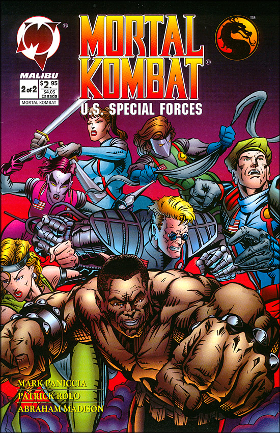 mortal kombat special force 2 comic cover