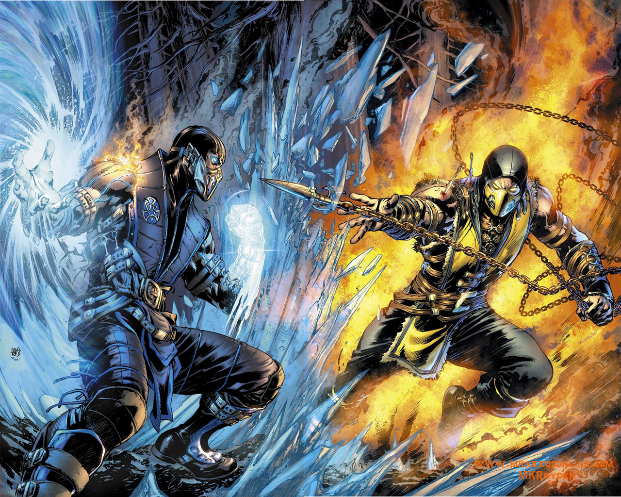 mortal kombat x comic cover